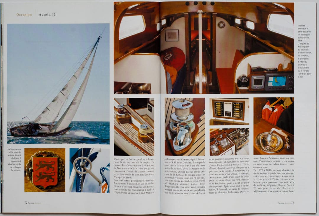 article Acteia yachting classique