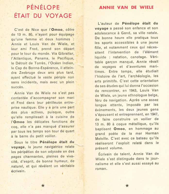 A Van de Wiele - Pénélope était du voyage