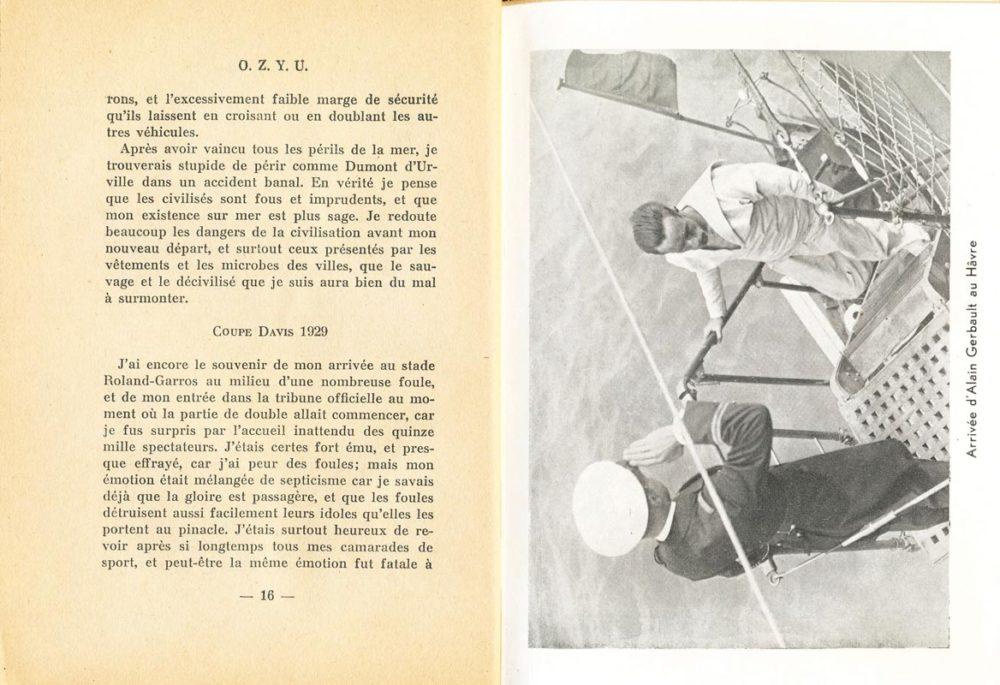 O.Z.Y.U. Dernier journal - Alain Gerbault