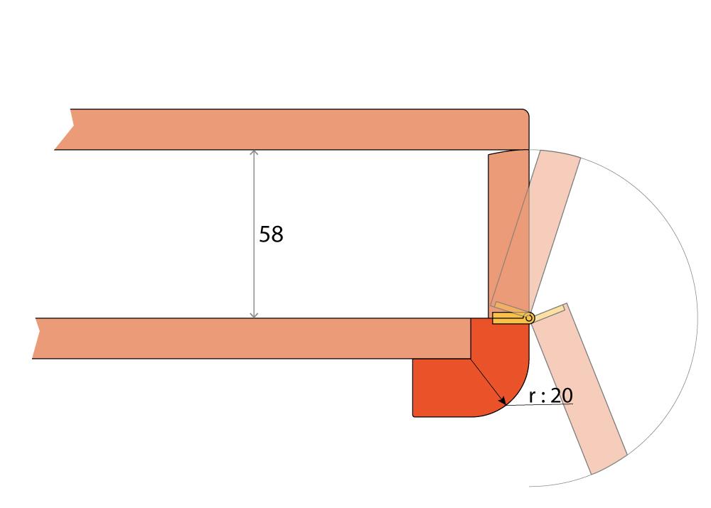 Détail table à cartes Maïca CMN