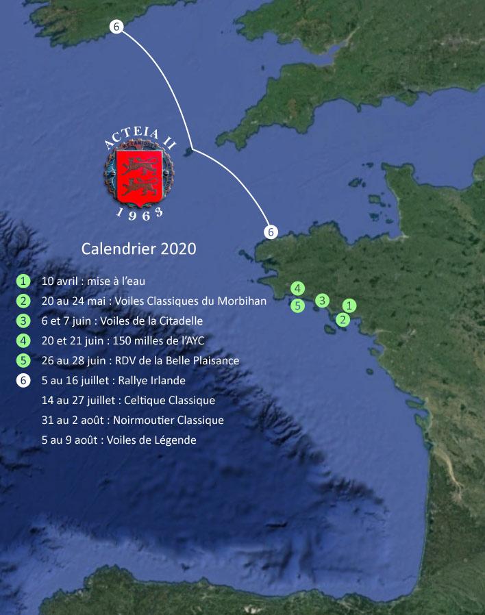 Calendrier Acteia 2020